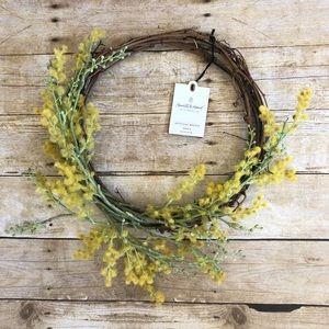 "Hearth & Hand Yellow  16"" Crespedia Wreath"